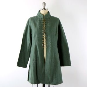 NWT April Cornell Sage Green Chinese Coins Jacket